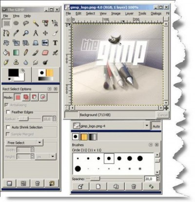 Portable GIMP 2.2.13 screenshot