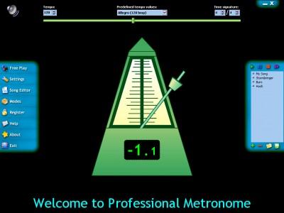Professional Metronome 1.9 screenshot
