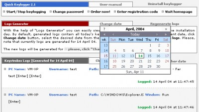 Quick Keylogger 2.1 screenshot
