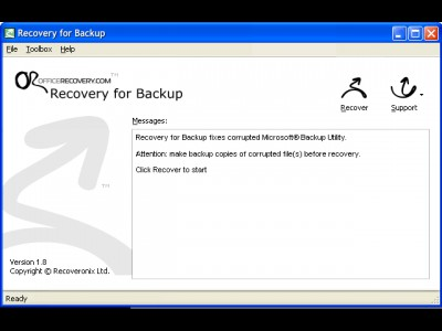 Recovery for Backup 2.0.1008 screenshot