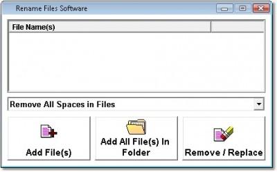 Rename Files Software 7.0 screenshot