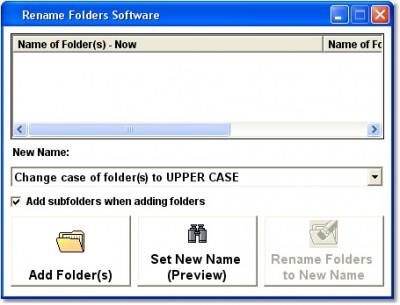 Rename Folders Software 7.0 screenshot