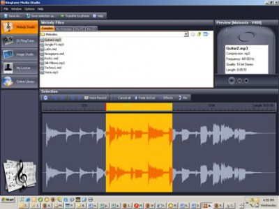 Ringtone Media Studio 2.2 screenshot