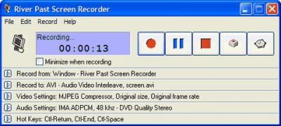 River Past Screen Recorder 7.8 screenshot