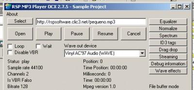 RSP MP3 Player OCX 2.7.5 screenshot