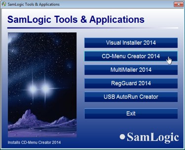 SamLogic CD-Menu Creator 8.0.3 screenshot