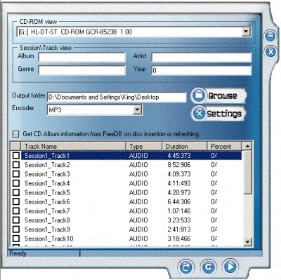 SC Audio CD Ripper 3.5.0.5 screenshot