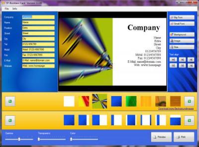 SF-Business Card 11.00 screenshot
