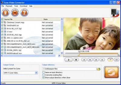SoftPepper Zune Video Converter 1.0 screenshot