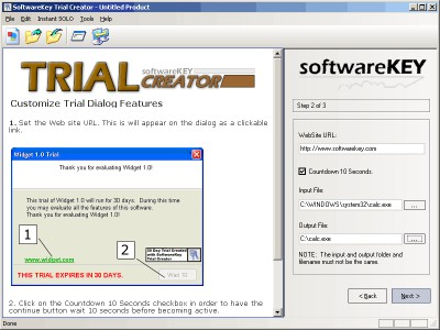 Softwarekey Trial Creator 1.10 screenshot