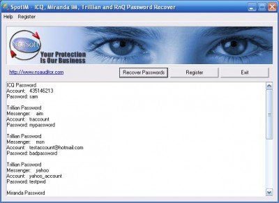 SpotIM Password Recover 1.4 screenshot