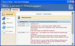 Spy Lantern Keylogger 5.4 screenshot
