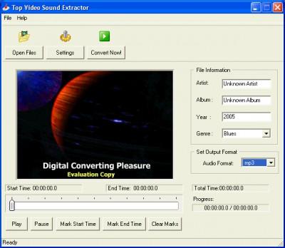 Top Video Sound Extractor 1.0 screenshot