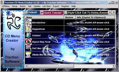 Traction CD Menu Creator 1.20 screenshot