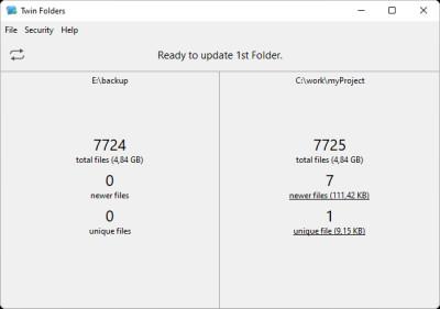 Twin Folders 4.5.1 screenshot