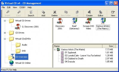 Virtual CD 8.1 screenshot
