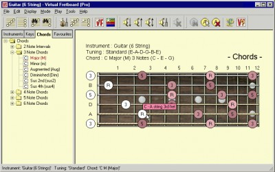 Virtual Fretboard for Guitar 1.00.06 screenshot