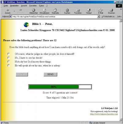 WebQuiz 1.2.0 screenshot