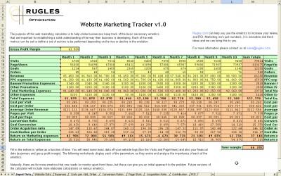 Website Marketing Tracker 1.0 screenshot