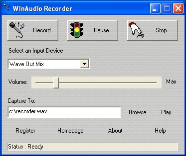 Win Audio Recorder 2.0 screenshot