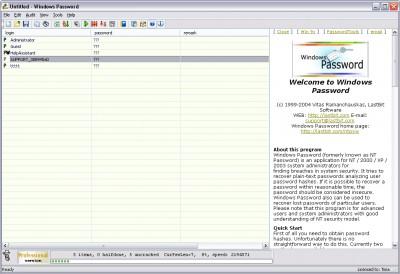 Windows Password 6.0.1509 screenshot