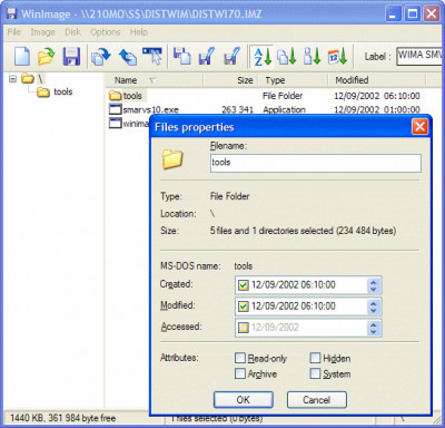 WinImage 9.00 screenshot