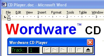 Wordware CD Player for Word 2.0 screenshot