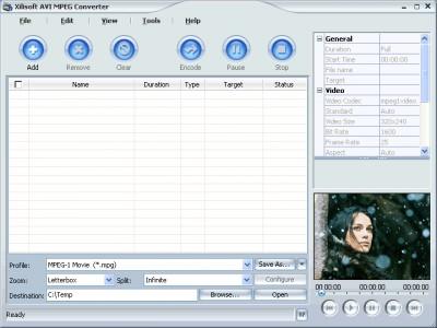 Xilisoft AVI MPEG Converter 3.1.9 screenshot