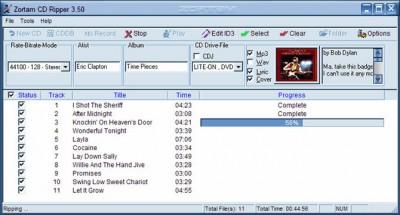 Zortam CD Ripper 4.00 screenshot