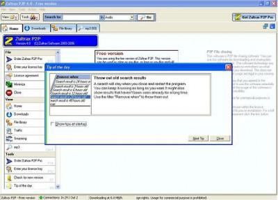 Zultrax P2P 4.43 screenshot